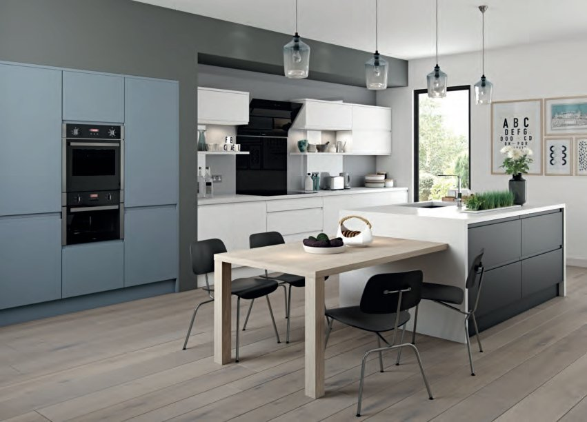 Arena Denim White & Graphite Kitchen